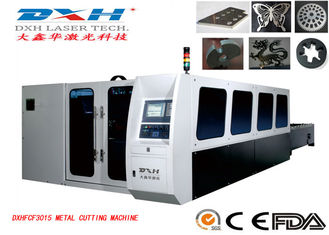 Fully Enclosed Fiber Laser Metal Cutting Machine , CNC Metal Laser Cutter PC Control