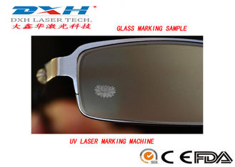 China Small Industrial Laser Marking Systems , Transparent Glass Carving Machine  factory