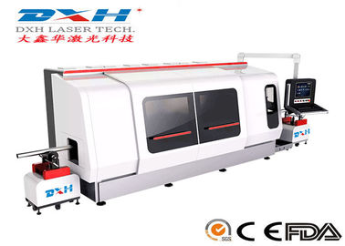 500W CNC Laser Metal Cutting Machine / Laser Tube Cutting Machine Chiller Coolding Type