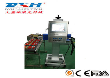 China High Speed Automatic Laser Marking Machine For Food Bag Package /  USB Cable factory