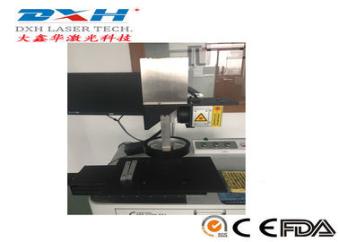 China 10W 20W 30W Fiber Laser Automatic Laser Marking Machine With Moving Work Table factory