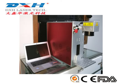 30w Fiber Laser Marking Machine With Galvanometer PVC / Keyboard Applied