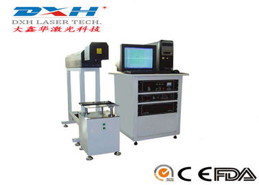 Computerized Mopa / YAG Laser Marking Machine For Zip Top Can / Sanitary Product